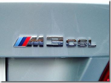 BMW M3 CSL Emblem