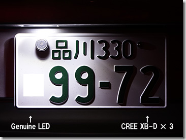 Porsche LED License Lamp