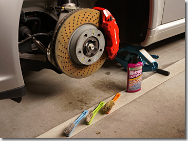 Porsche 997, Wheel Spacer, Red Painting, DIY