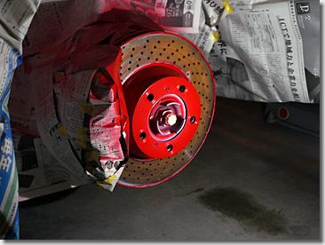 Porsche 997, Wheel Spacer, Red Painting, DIY