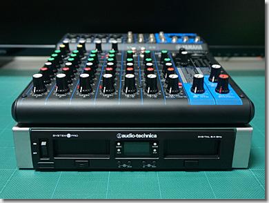 audio-technica ATW-1301 and YAMAHA MG10XU