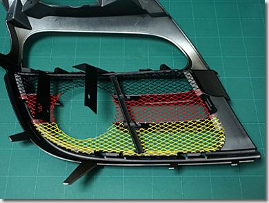 Porsche 911 Type 997, Front Mesh Grill, HID Fog Lamp, DIY