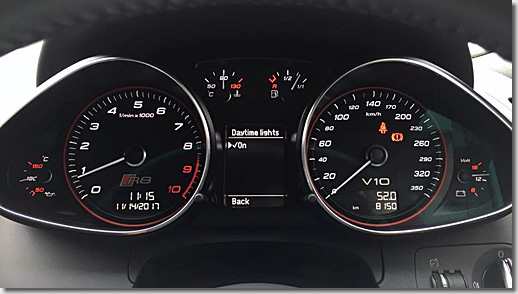 Audi R8 Daytime-Running-Lamps Cording, Axis Yokohama