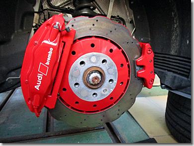 Red Caliper Paint, Audi R8 V10 5.2 FSI quattro