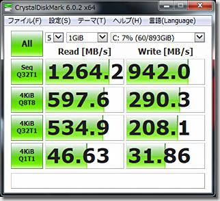 CrystalDiskMark Corsair SSD Force Series LE200 480GB