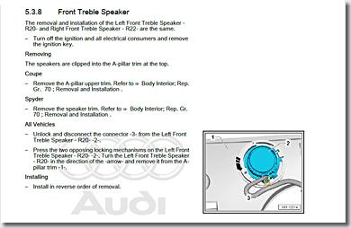Audi R8, Front Treble Speaker