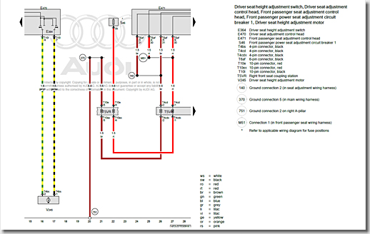 Audi R8 Wiring Diagram, Right Front Seat Coupling Station