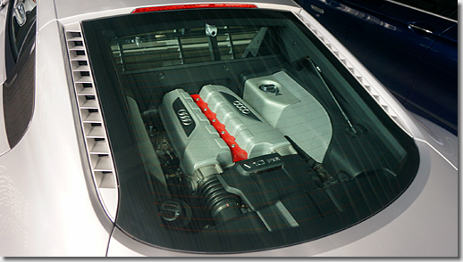 Engine Mesh Cover Painting for Audi R8