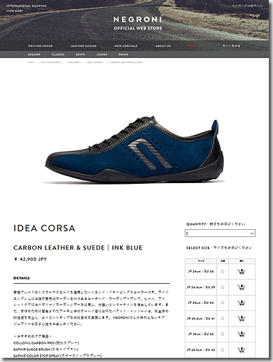 NEGRONI, IDEA CORSA, - Ink Blue