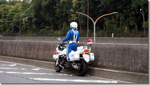 Police Motorcycle at Heiwajima